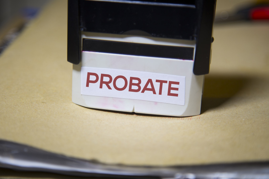 """a stamp with the word """"probate"""" on it"""