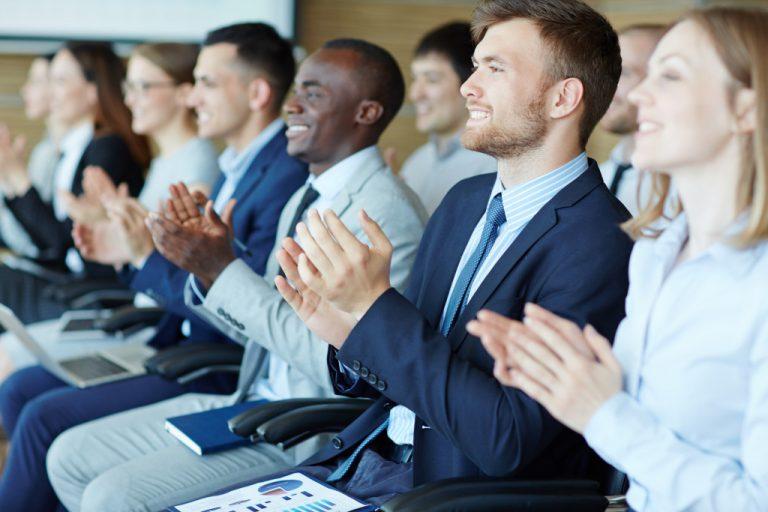 employees applauding